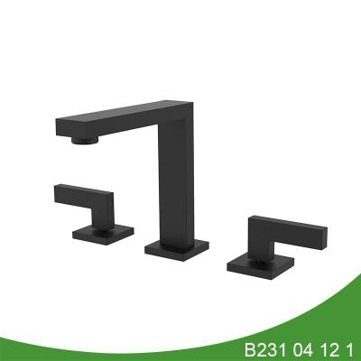 Matt black widespread basin faucet B231 04 12 1