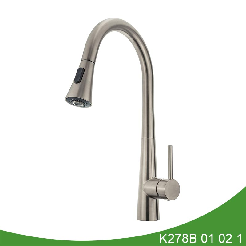 Brass pull out kitchen faucet K278B 01