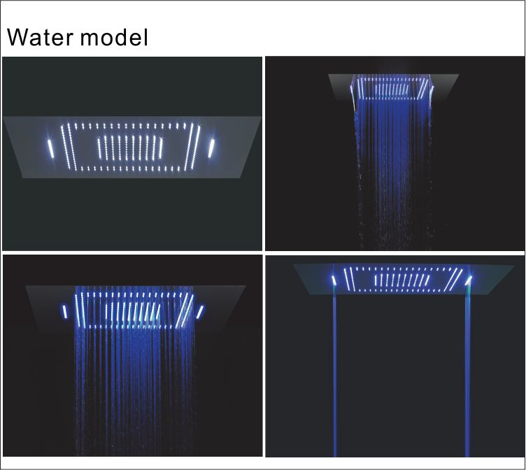 thermostatic color changing shower water model