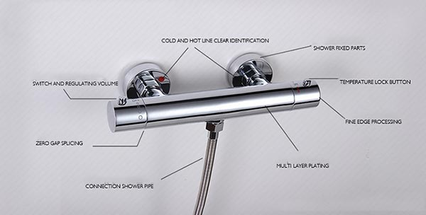Thermostatic mixer advantage